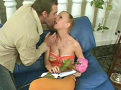 Rekas a blonde with big round tits and an insatiable appetite for cock pleasing Watch this blonde vixen in sexy stockings and high heels hit it off with a horny hunk Watch her gobble his cock with her skillful mouth and ride on top of it with her cunt